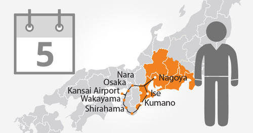 Ise-Kumano Area Tourist Pass - 5 Days - Adult