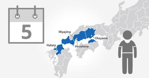 Okayama-Hiroshima-Yamaguchi Area Pass - 5 Days - Child