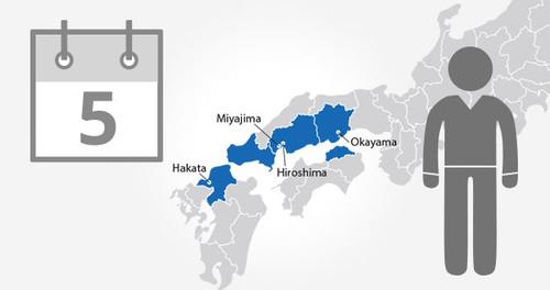 Okayama-Hiroshima-Yamaguchi Area Pass - 5 Days - Adult