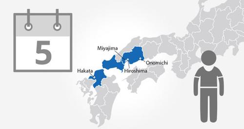 Hiroshima-Yamaguchi Area Pass - 5 Days - Child