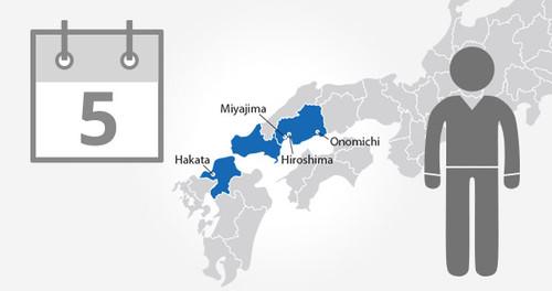 Hiroshima-Yamaguchi Area Pass - 5 Days - Adult