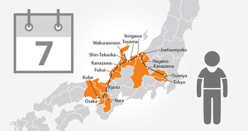 Osaka-Tokyo-Hokuriku Arch Pass - 7 Days- Child