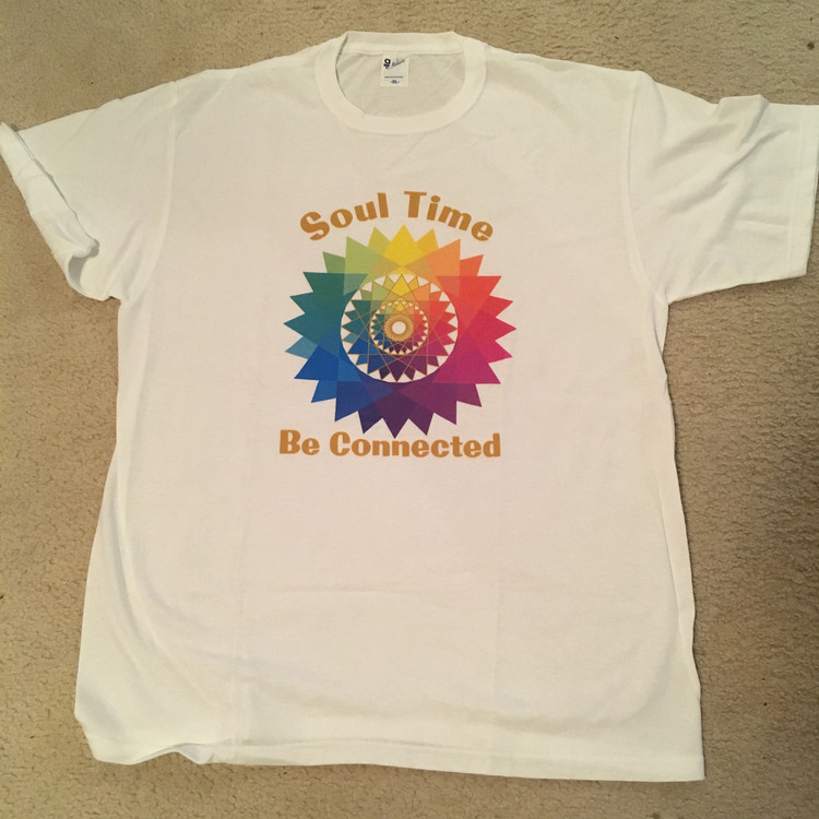 "Star of One image with ""Soul Time, Be Connected"" -T-shirt"