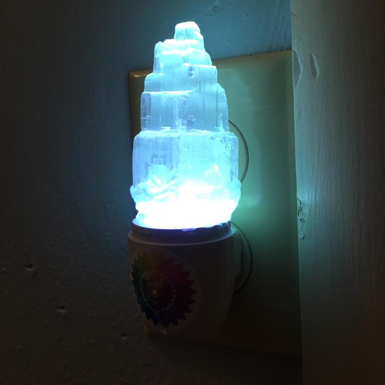 Selenite color changing light