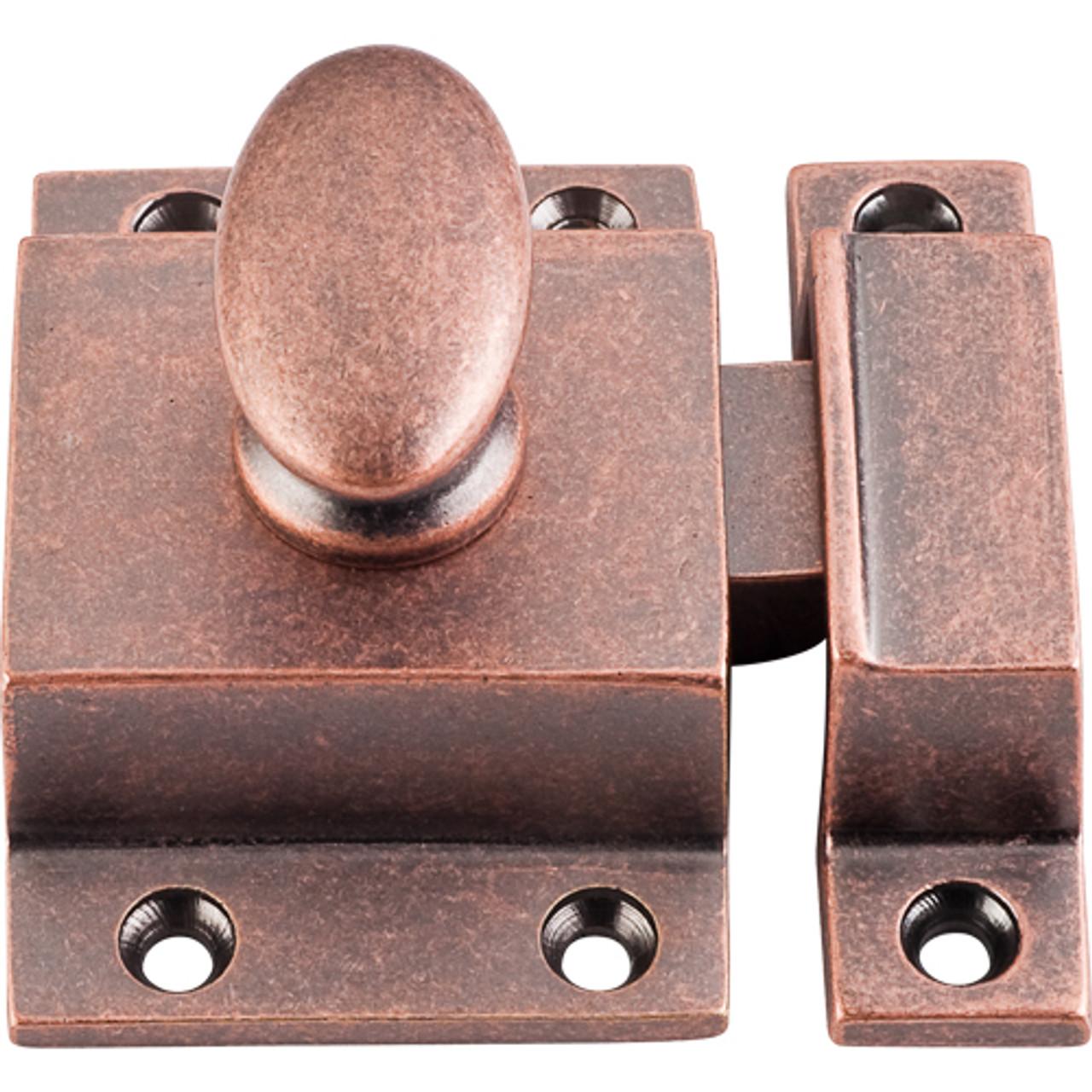"Vintage Forged Iron Cabinet Latch Copper Metal Hammered Design 3//8"" Offset"