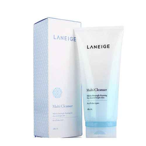 Laneige 4-in-1 Multi Cleanser - gently exfoliates and removes impurities from the skin, revealing a glowing complexion.