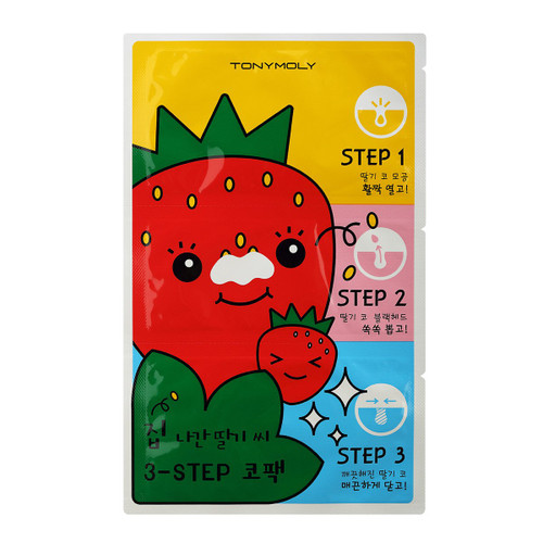Tony Moly Runaway Strawberry Seeds 3-step Nose Pack