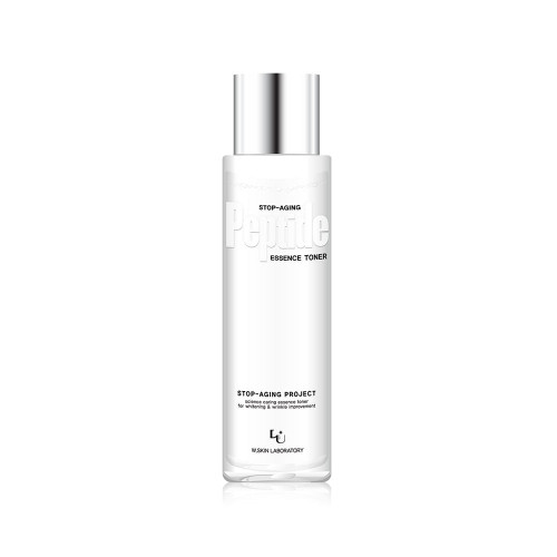 W.Skin Laboratory Stop Aging Peptide Essence Toner - Rich in potent ingredients that brighten and smooth out fine lines and wrinkles. Contains 7 peptides, Volufiline (Sederma France) and Beautiful Herb-C (a mixture of four antioxidant and anti-inflammatory herbs).