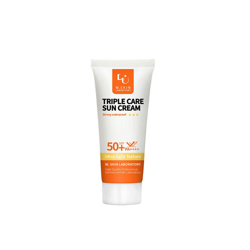 W.Skin Laboratory Triple Care Sun Cream SPF50+ PA++++ is a highly effective anti-aging sunscreen that hydrates the skin. Provides UV protection and is water resistant for up to 12 hours.
