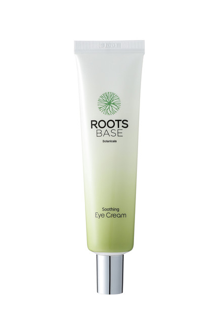 Roots Base Botanicals Soothing Eye Cream: Rich in Kukui Seed Oil, an ingredient native to Hawaii, which is traditionally used to treat dry skin, psoriasis and minor burns in hospital patients and babies. Effectively smoothes out fine lines and wrinkles in the eye area.