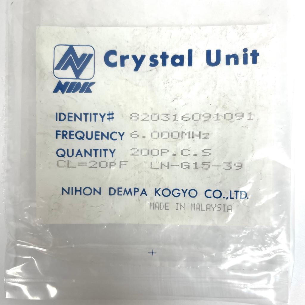 (PKG of 10) 6.000 MHz Crystal, 20pF, 6MHz, HC-49/U, NDK