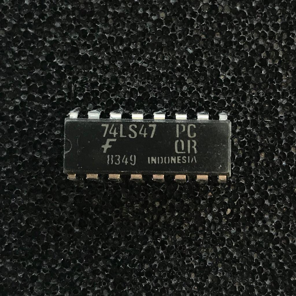 (PKG of 10) 74LS47PC BCD to 7-Segment Decoder/Driver, PDIP-16, Fairchild