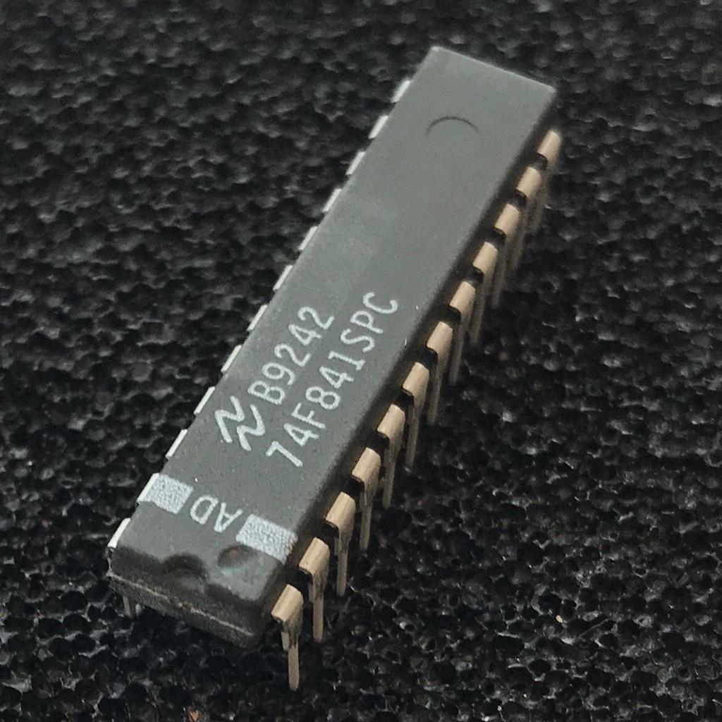 (PKG of 5) 74F841SPC 10-Bit Transparent Latch, PDIP-24, National