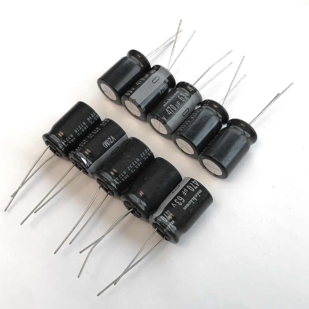 (PKG of 10) 470uF 63V Electrolytic Capacitor, Radial, 105ºC, Nichicon VZ Series