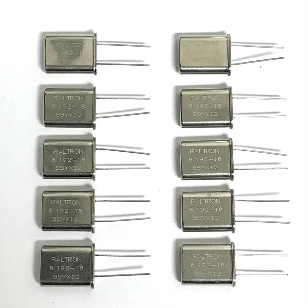 (PKG of 10) 8.192 MHz Crystal, 18pF, HC-49/U, RALTRON A-8.192-18