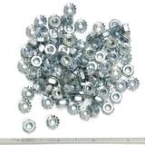 """(PKG of 100) 8-32 Keps Nut, K-Lock, Zinc Plated Steel, 11/32"""" Flats"""