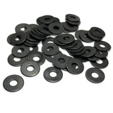 """(PKG of 50) #10 Black Oxide Stainless Flat Washer, MS15795-847B, 0.562"""" OD"""