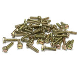 """(PKG of 50) 6-32 x 5/8"""" SEMS Screw, Ext. Tooth Slotted Hex Head, Steel Yellow Zn"""