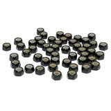 "(PKG of 50) 4-40 Hex Lock Nut, Black Oxide Steel, Nylon Insert, 1/4"" Flats"