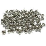 "(PKG of 100) 8-32 x 3/8"" Machine Screw, Phillips Truss Head 18-8 Stainless Steel"