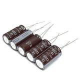 (PKG of 5) 2200uF 10V Electrolytic Capacitor, Radial, 105°C, UCC LXF Series