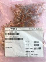 (Factory Bag of 500 pcs) Avago HLMP-1621 Yellow Diffused 12V T-1 (3mm) LED