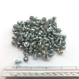 "(PKG of 100) 8-32 x 5/16"" SEMS Screws, Internal Tooth, Phillips Pan Head, Steel, Zinc"