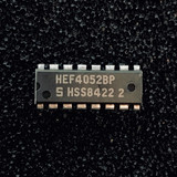 (PKG of 10) HEF4052B Dual 4-Channel Analog Multiplexer, DIP-16, Signetics