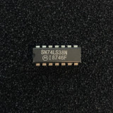 (PKG of 10) SN74LS38N Quad 2-Input Positive-NAND Buffers, PDIP-14, Motorola