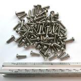 "(PKG of 100) 6-32 x 1/2"" Machine Screw, Phillips Pan Head, 18-8 Stainless Steel"