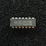 (PKG of 10) MC14023BCP Triple 3-Input NAND Logic Gate, CD4023, PDIP-14, Motorola