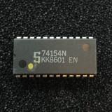 74154N 4-to-16 Line Decoder/Demultiplexer, PDIP-24, Signetics