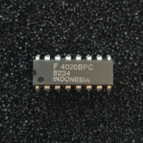 (PKG of 10) 4020BPC 14-Stage Binary Ripple Counter, CD4020, PDIP-16, Fairchild
