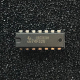 (PKG of 10) SN74F32N Quadruple 2-Input OR Gates, PDIP-14, Texas Instruments