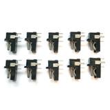 (PKG of 10) DC Power Jack, 5.5 mm x 1.3 mm, PCB Mount, Kobiconn 16PJ200
