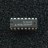 (PKG of 10) M74LS258AP Quad 2-to-1 Data Select/Multiplexer, Inverting, PDIP-16, Mitsubishi