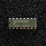 (PKG of 10) 74LS258APC Quad 2-to-1 Data Select/Multiplexer, Inverting, PDIP-16, Fairchild