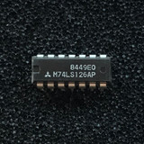 (PKG of 10) M74LS126AP Quad Bus Buffer w/ 3-State Output, Non-Inverting, PDIP-14, Mitsubishi