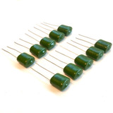 (PKG of 10) 0.47uF 100V Polyester Film Capacitor, 10% Tolerance, Xicon PM2A474K