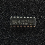 (PKG of 10) SCL4585BE 4-Bit Magnitude Comparator, CD4585, PDIP-16, Solid State Scientific