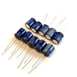 (PKG of 10) 220uF 35V Electrolytic Capacitor, Radial, 85ºC, Nichicon VX Series