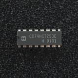(PKG of 10) CD74HCT253E Dual 4-Input Multiplexer, PDIP-16, Harris