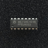 (PKG of 10) MC74HC161N 4-Bit Synchronous Binary Counter, PDIP-16, Motorola