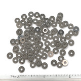 """(PKG of 100) #2 Stainless Steel Flat Washer, 0.25"""" OD x 0.020"""" Thick, MS15795-802"""