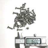 (PKG of 50) M4 x 16mm, Hex Drive Flat Head Screw, M4-0.7x16, Stainless Steel