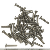 "(PKG of 50) 8-32 x 1"" Machine Screw, Phillips Pan Head, Stainless Steel"