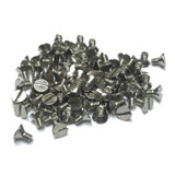 """(PKG of 100) 6-32 x 1/4"""" Machine Screw, Slotted Flat Head, 18-8 Stainless Steel"""
