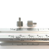 """(PKG of 10) Standoff, 1/4"""" Hex, M-F, 4-40, 1/4"""" Length, Stainless Steel"""