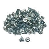 "(PKG of 100) 6-32 x 3/16"" Machine Screw, Phillips Flat Undercut Head, Zinc Steel"