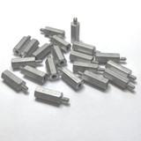 """(PKG of 20) Standoff, 1/4"""" Hex, M-F, 4-40, 5/8"""" Length, Aluminum"""